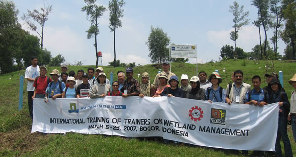 SCPW was at the Training of Trainers on Wetland Management in Indonesia