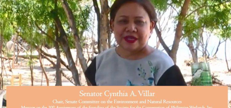 message of Sen. Villar