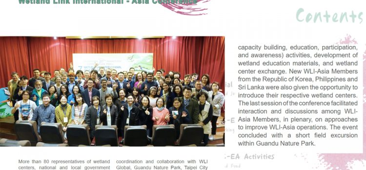 SCPW attends Wetland Link International Conference in Taipei, featured on RRC-EA Webzine