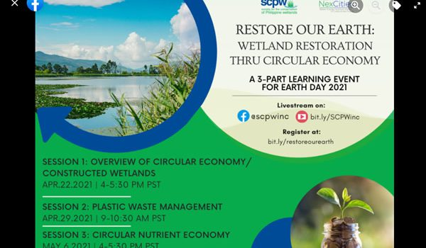 Wetland Restoration thru Circular Economy….Celebrating Earth Day 2021